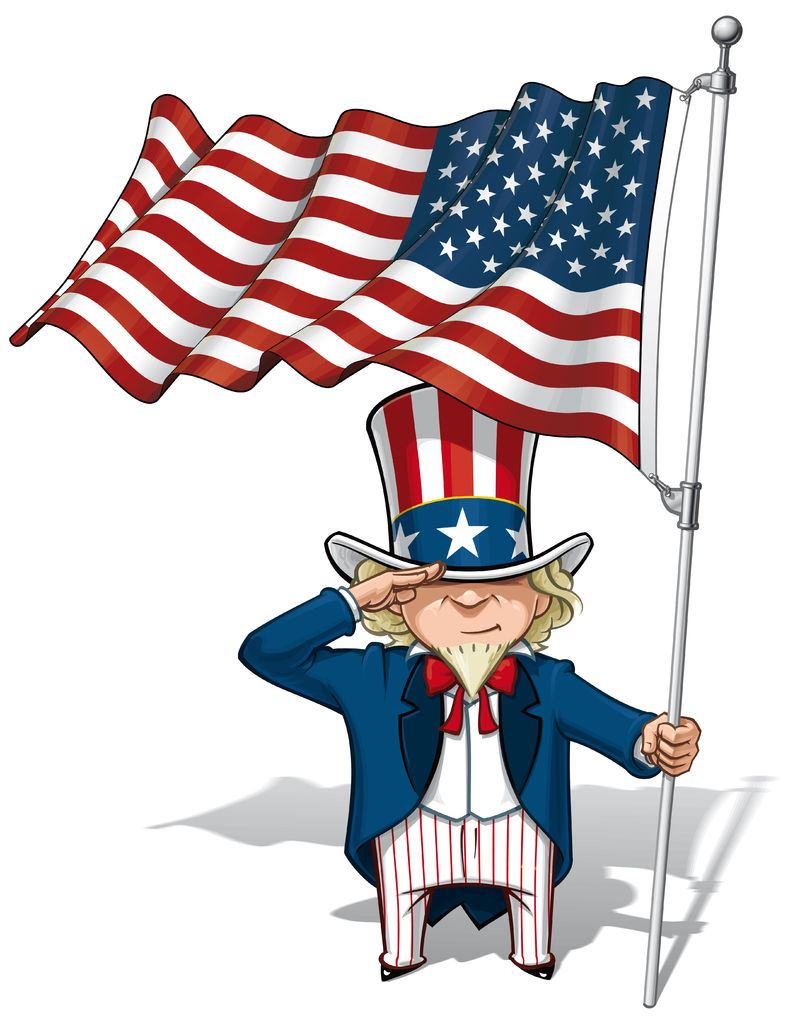 Image of Uncle Sam with American Flag