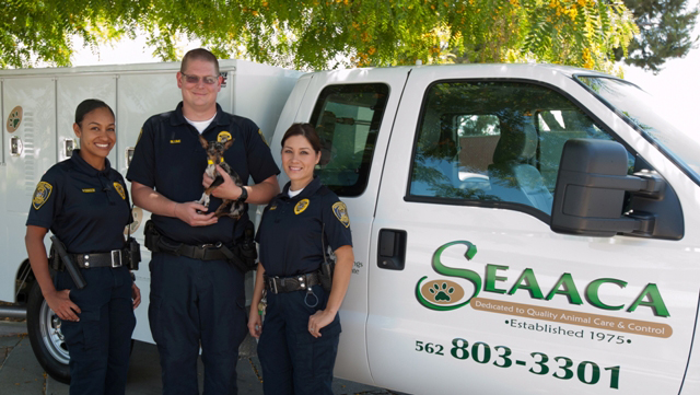 Southeast Area Animal Control Authority (SEAACA) Staff with Animals