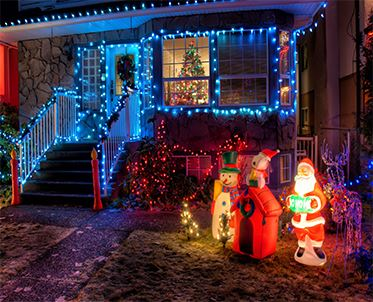 Exterior of house decorated with Christmas lights jpeg