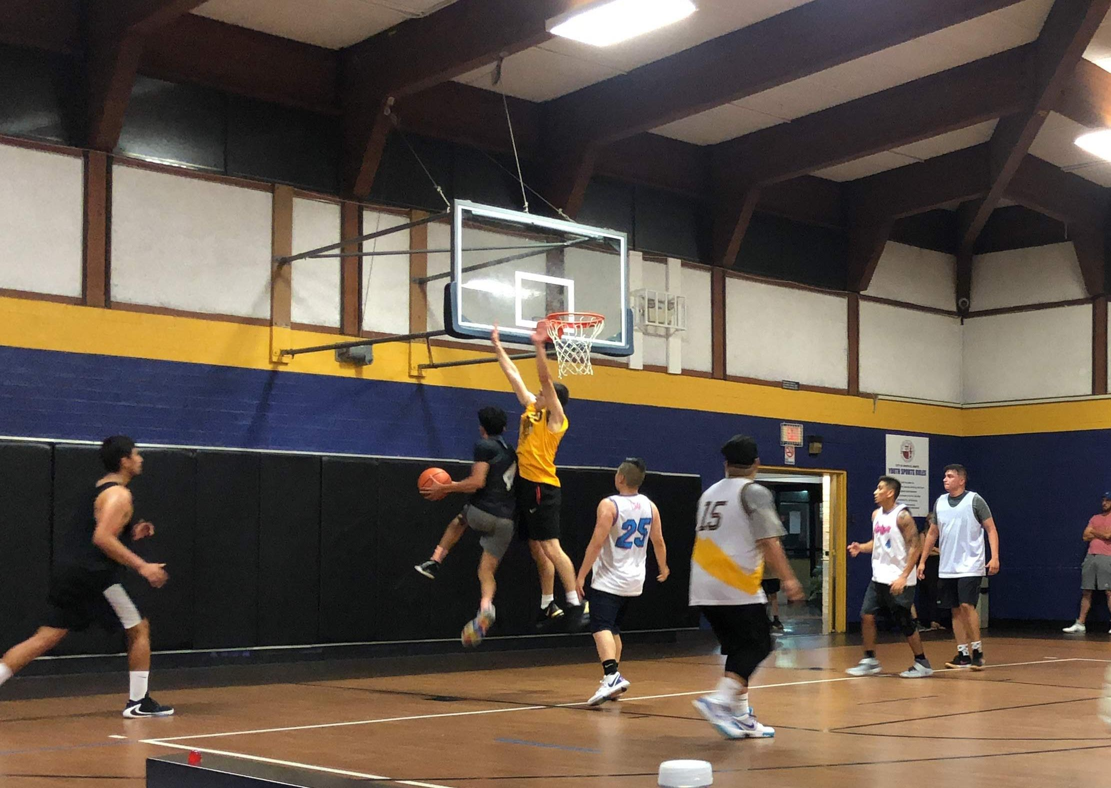 Adult Basketball game